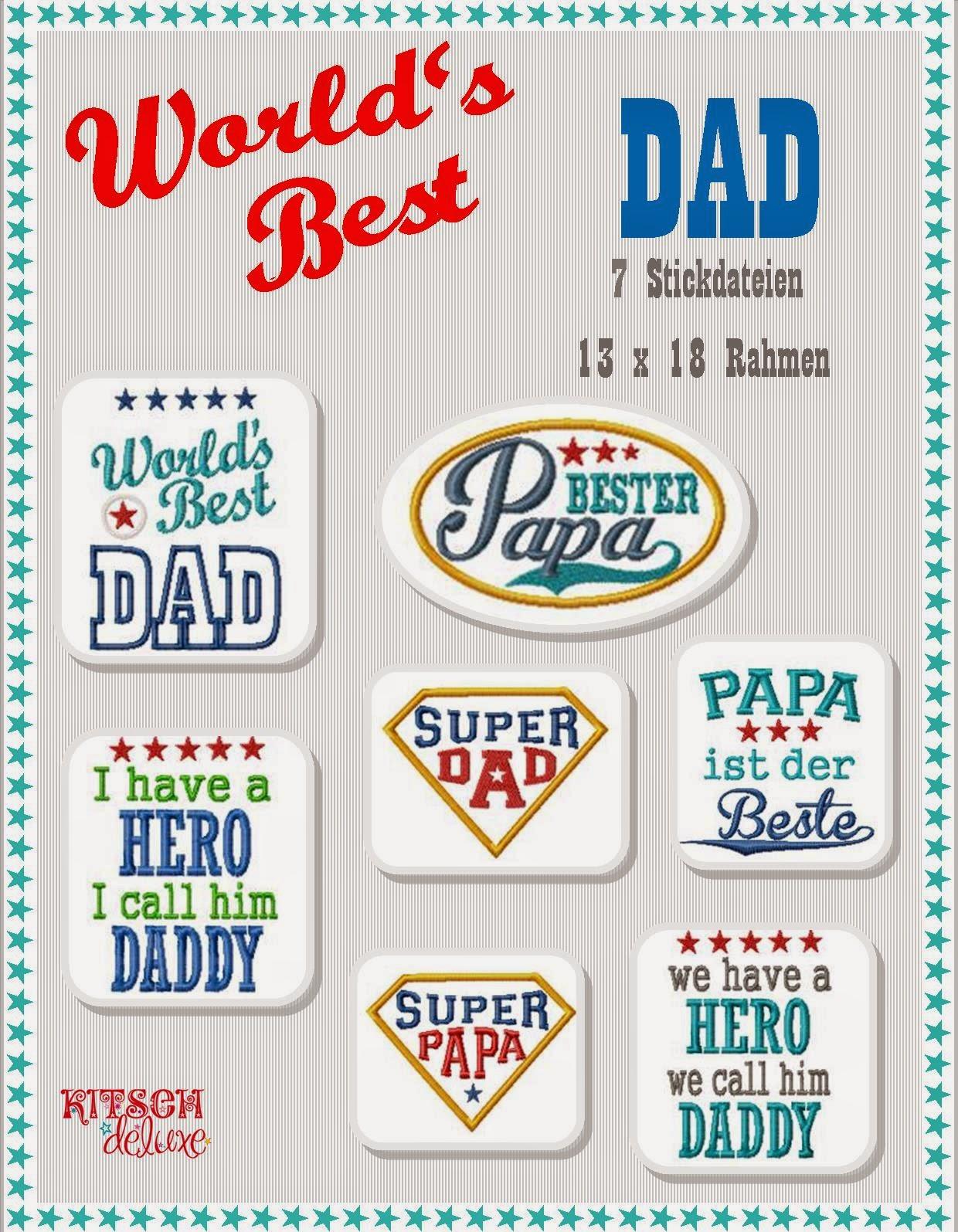 KITSCH deluxe: Stickdatei World\'s best DAD