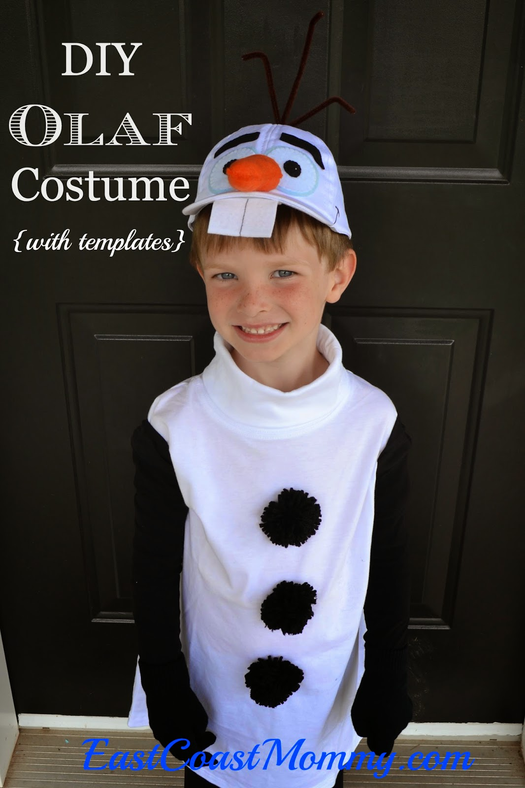 East coast mommy diy olaf costume i knew it would be difficult to come up with a diy olaf costume for him to wear but i couldnt be more pleased with how it turned out solutioingenieria Image collections