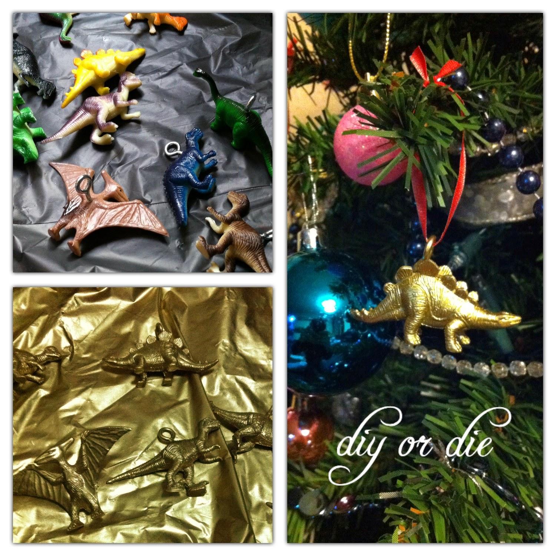 S banas limpias c mo hacer adornos de dinosaurios para el - Hacer adornos para el arbol de navidad ...