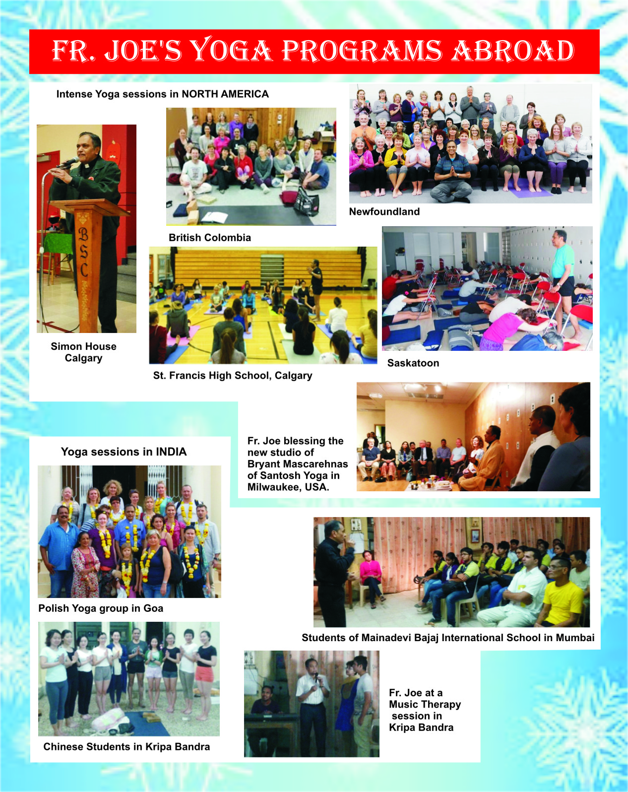Kripa Foundation India Fr Joes Christmas Greetings To You