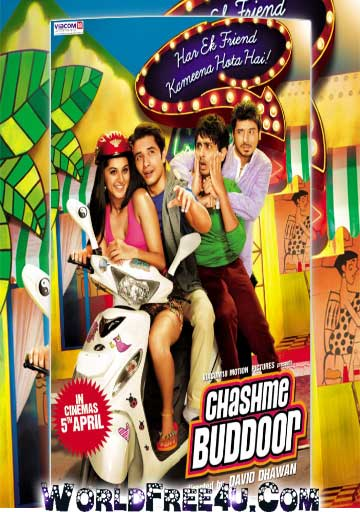 Poster Of Bollywood Movie Chashme Baddoor (2013) 300MB Compressed Small Size Pc Movie Free Download worldfree4u.com