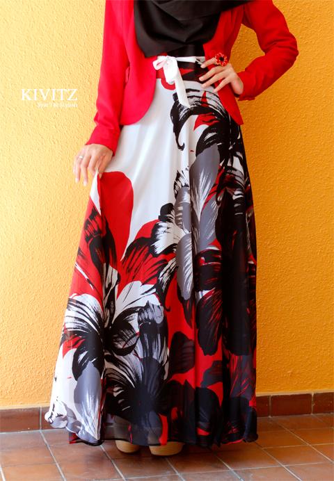 إطلالة ربيعية للمحجبات  2013 - أزياء محجبات 2013