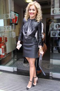 Rita Ora Leather Minidress