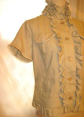 Linen Short Sleeve Summer Jacket Women's Blazer Shabby Chic