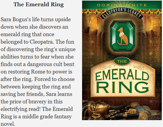 The Emerald Ring is a middle grade fantasy novel!