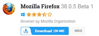 Mozilla Firefox 38.0.5 Beta 1 Free Download Latest Version