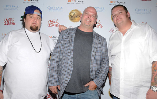 Austin 'Chumlee' Russell With Rick And Corey Harrison