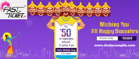 Fastticket is offering free Rs.50 recharge on downloading their app