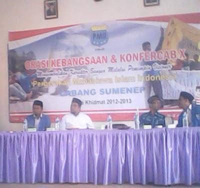 Imam Syafi'i Dipilih sebagai Ketum PC PMII Sumenep 2013