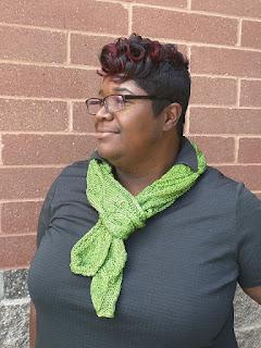 Leaf River metallic knit scarf
