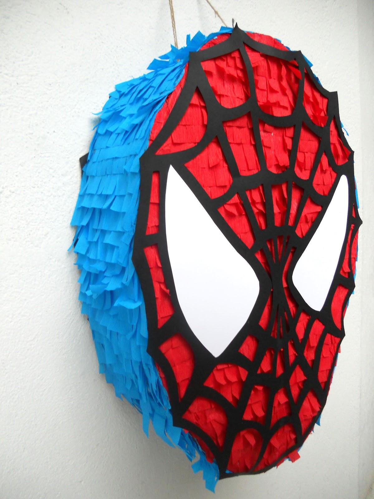 Pi atas que ilusionan pi ata spider man for Decoracion para pinatas