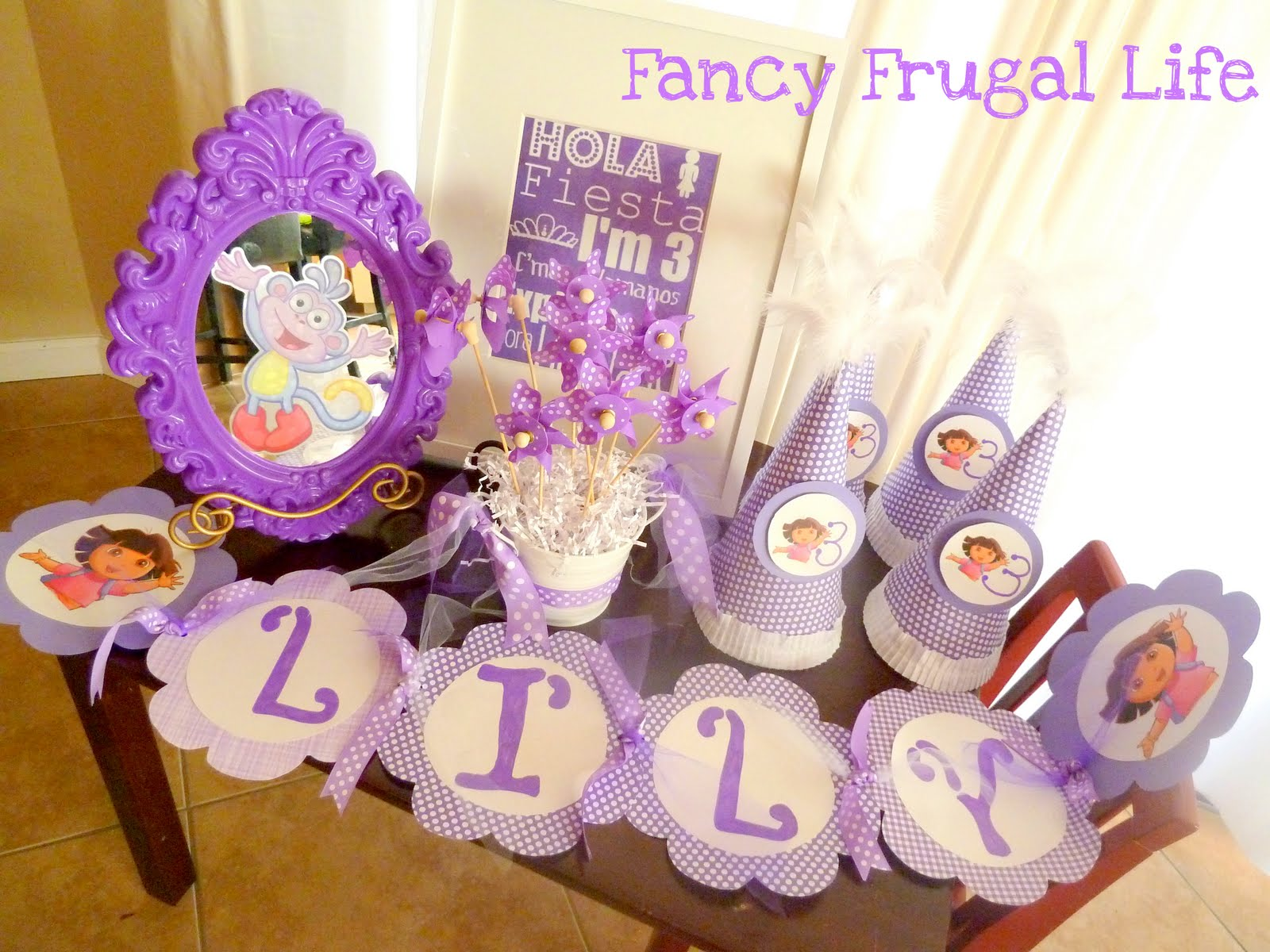 Glam Dora Birthday Party Decorations
