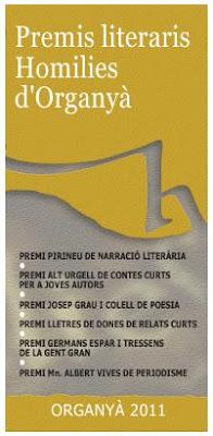 Premis Literaris Homilies d'Organyà 2011