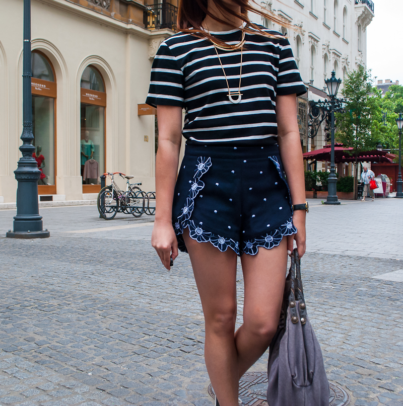 Striped and prints OOTD In Budapest