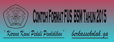 Format FUS BSM Tahun 2015