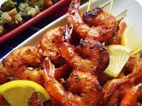 """Tito's Spiked """"Bloody Mary"""" Chipotle Shrimp"""