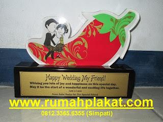 Plakat Wedding Pernikahan Surabaya, Tulisan di Plakat Pernikahan, 0812.3365.6355