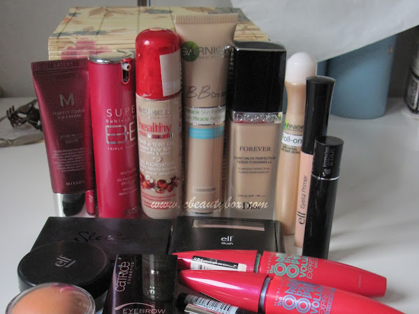 In my makeup box: October