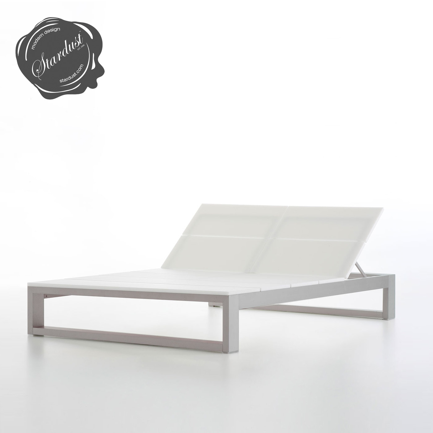 Modern patio chaise lounge - Double Outdoor Chaise Lounge Gandia Blasco Tumbona Na Xemena Es Cavallet Modern Outdoor Lounge Chaise