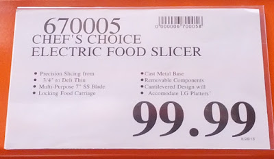 Deal for the Chef's Choice Premium Electric Food Slicer (model 6102)