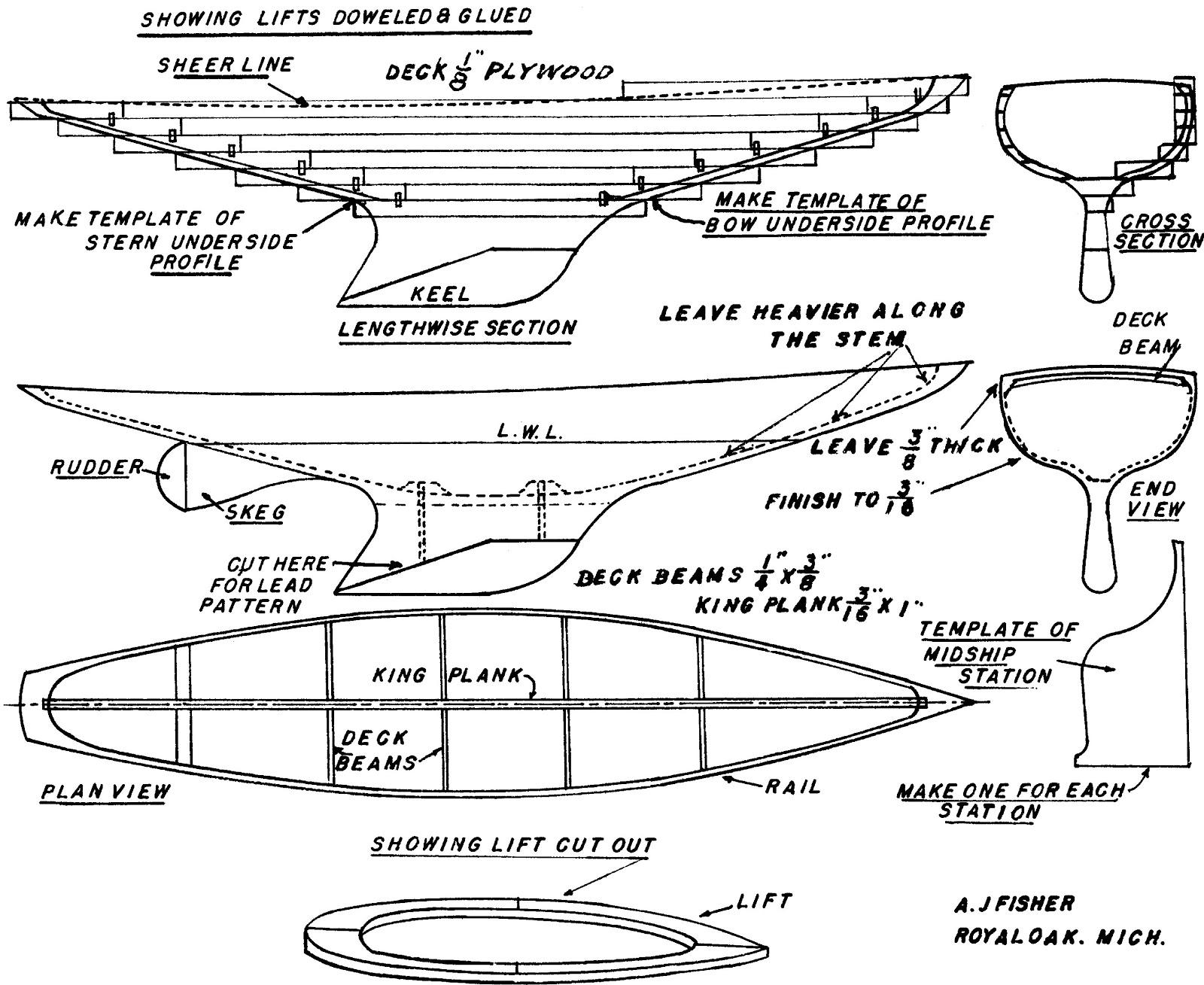 Rumaja: Free vintage model boat plans
