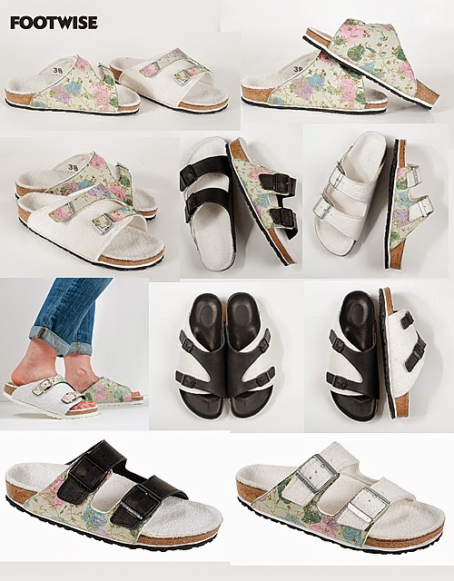 Katherine Polk's custom designed Birkenstock sandals for the Houghton line