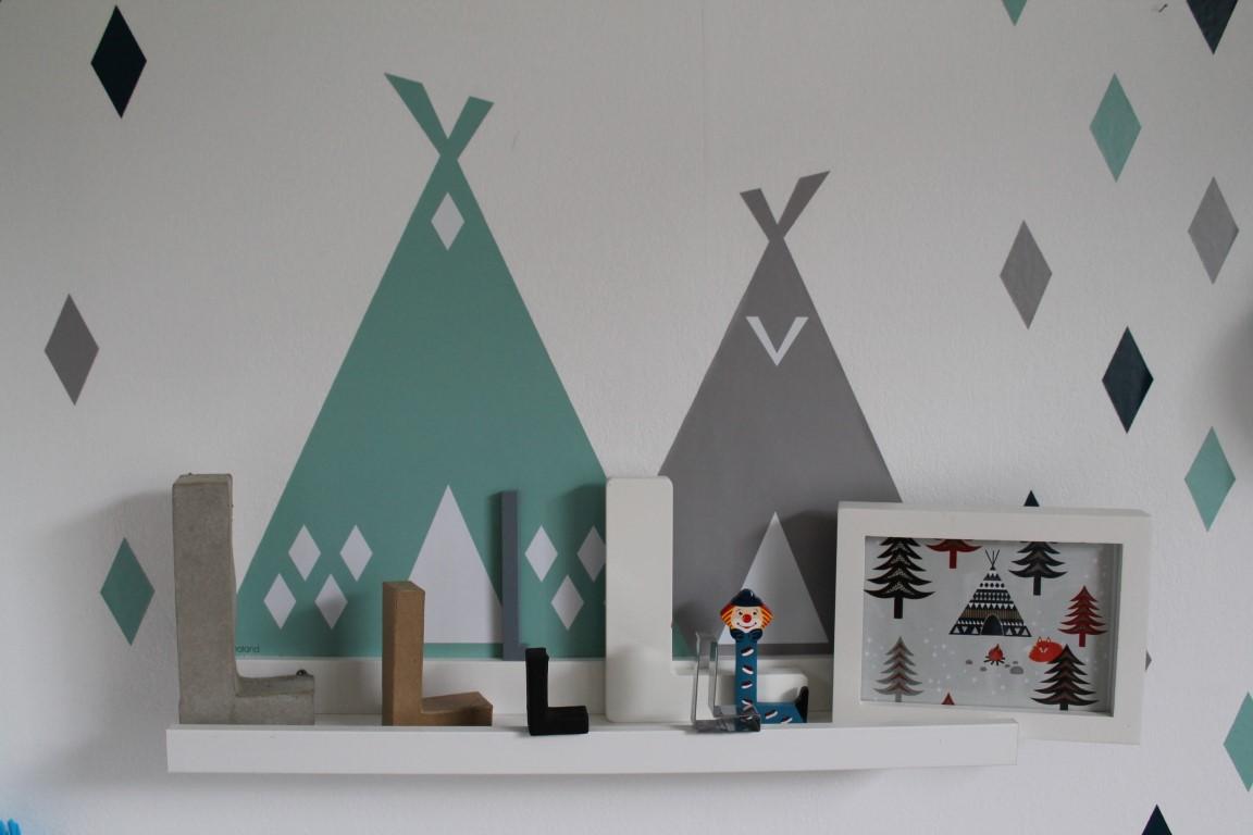 Kleines freudenhaus kinderzimmer make over zu weihnachten for Ikea wanddeko