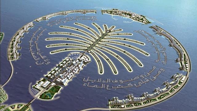 Foto Palm Island, Dubai – Reklamasi yang terpisah dari daratan utama