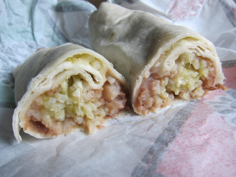 Bean And Cheese Burrito Del Taco The rice and beans were pretty