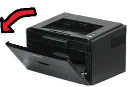 Как открыть крышку принтера