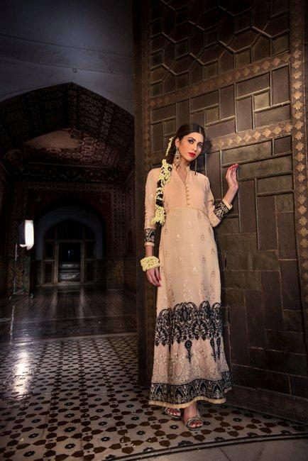 Treads and motifs winter party wear collection
