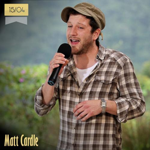 15 de abril | Matt Cardle - @mattcardle | Info + vídeos