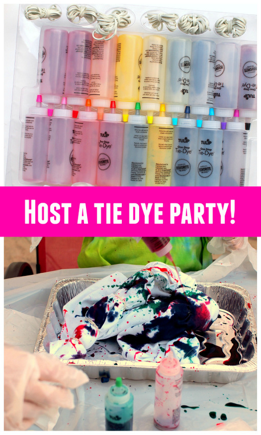 How to host a tie dye party for friends! Super easy tips and tricks!