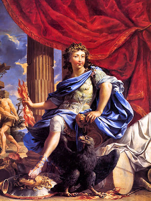 It's him!  Louis XIV as Jupiter Conquering the Fronde - Charles Poerson, mid-17th century - public domain, via Wikimedia Commons.