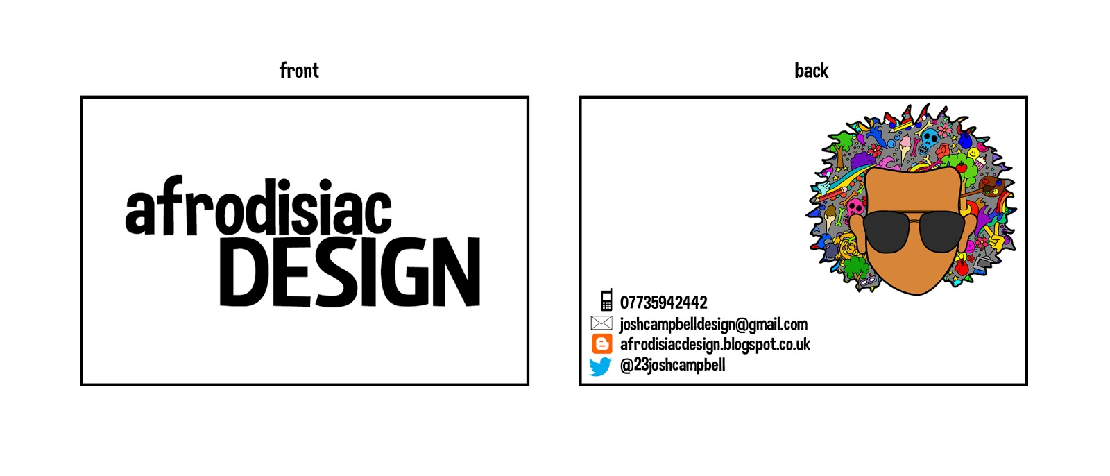 Business cards and t shirts afrodisiacdesign this was the design for my business card although i made some last minute developments before printing and through feedback after handing them out i will colourmoves