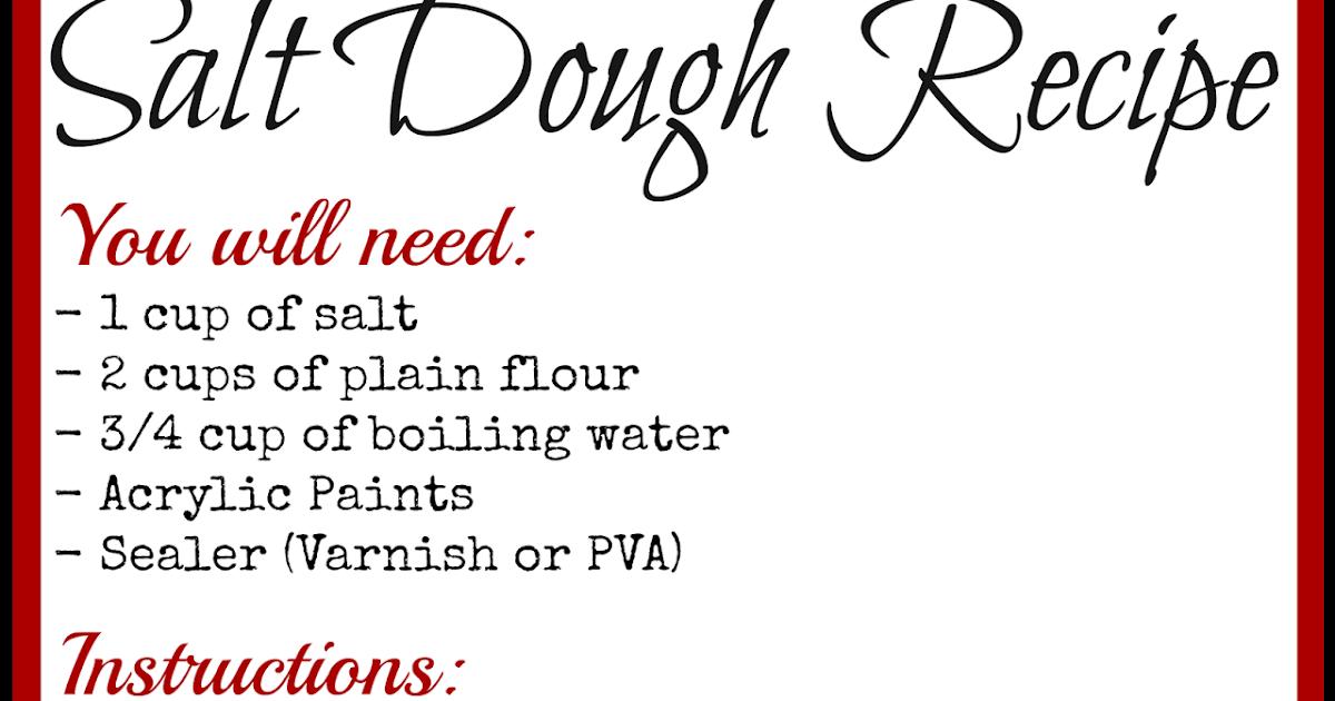 Learning And Exploring Through Play Salt Dough Recipe