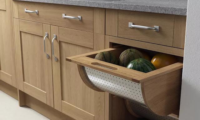 Shaker style kitchen storage