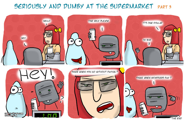 seriously and dumby at the supermarket part 3