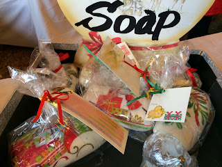 Handmade soap at British Women's Association Fair Karachi