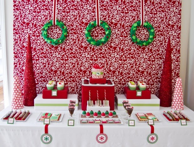 35 ideias de decora o de natal para crian as festa for Christmas party ideas for small office