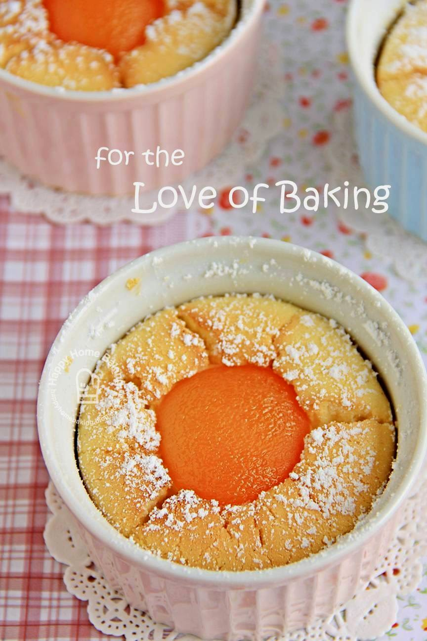 Happy Home Baking: Apricot Soufflé Cheesecake