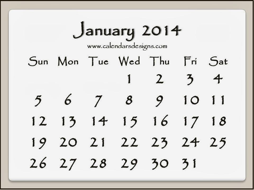 2014 Powerpoint Monthly Calendar Template   Calendar Template 2016