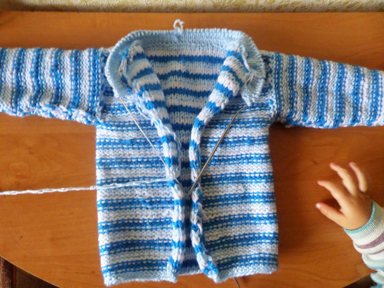 Вязание горловина спицами детских