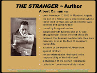 The Stranger Bulletin Board Albert Camus slide