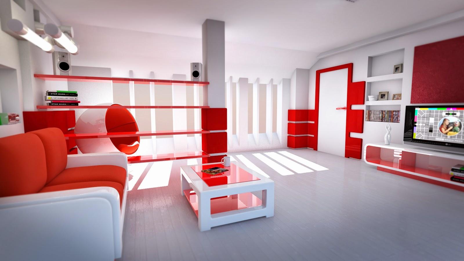 Muebles x muebles decorar la sala en color rojo for Sala de estar rojo y blanco