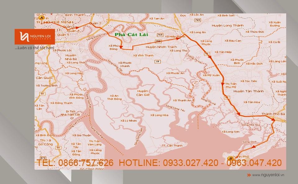 Dịch vụ chuyển nhà giá rẻ TPHCM đi Vũng Tàu