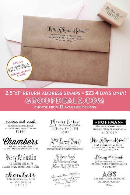 Save 34% on Custom Return Address Stamps