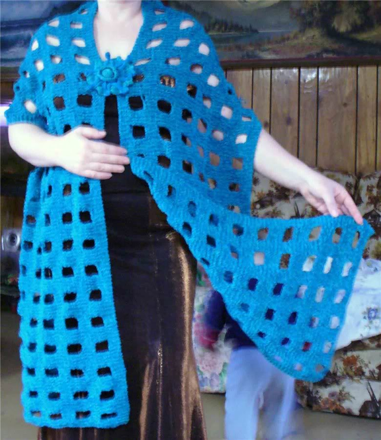 Вязание узор большие дырки