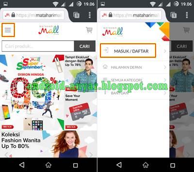 Cara Mendaftar MatahariMall.com Android