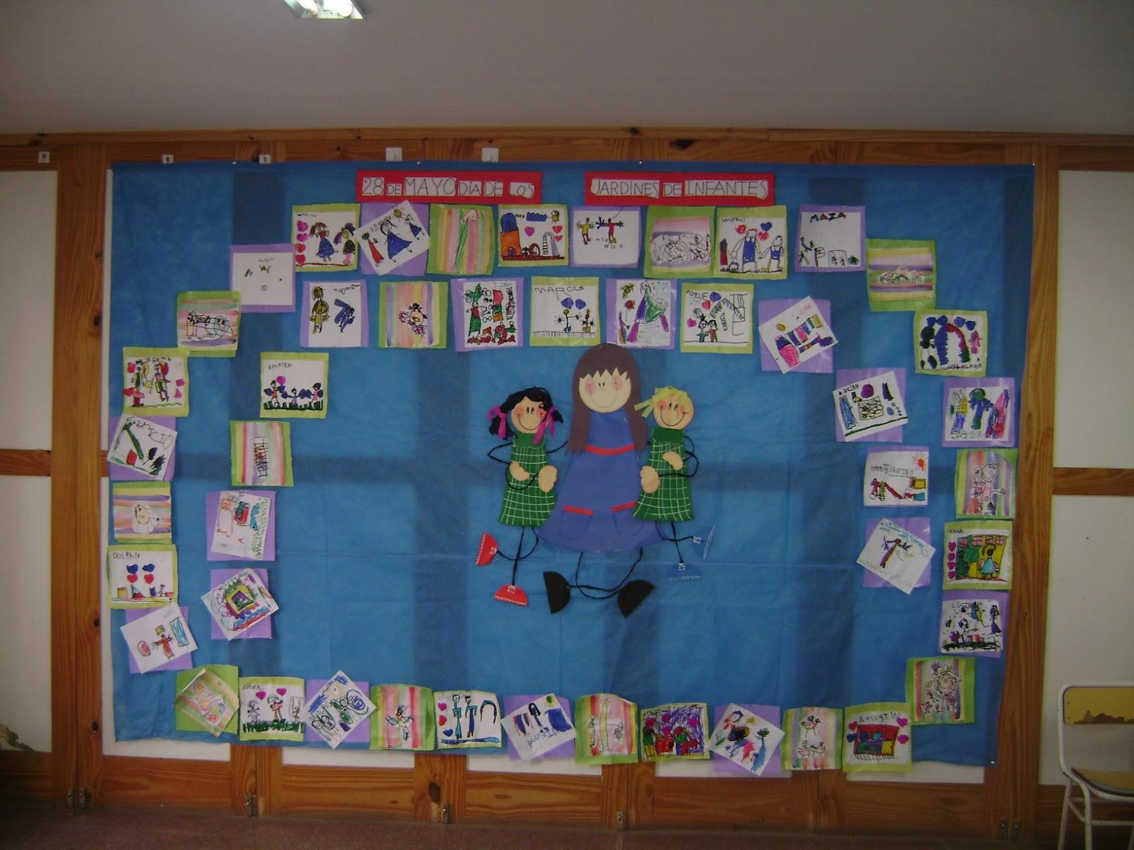 Decoraci n en el jard n de infantes d a de los jardines y for Actividades para el jardin de infantes